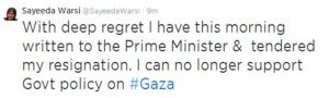 IS BARONESS WARSI A CONSERVATIVE-PHOBE?