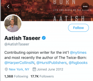 WHO IS BRITISH BORN AATISH ALI TASEER AND WHY DID INDIAN GOVERNMENT REVOKE HIS PRIVILEGES?