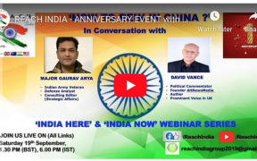 REACH INDIA - FIRST ANNIVERSARY! Major Gaurav Arya & David Vance