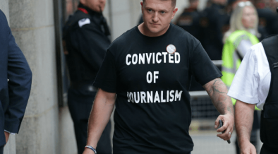 ROBINSON JAILED ON SAME DAY AS UK MEDIA FREEDOM CONFERENCE